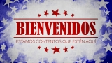 USA Holiday Grunge Welcome Still - Spanish