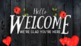 Wooden Valentine Welcome Still