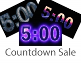Five Minute Countdown Sale