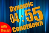 Dynamic Blue and Gold Countdown - Five Minutes