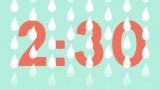 Raindrop Countdown, Blue and White HD