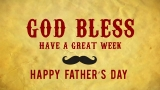 Mustache Dad's Day God Bless