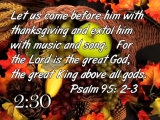 Thanksgiving To The Lord Countdown