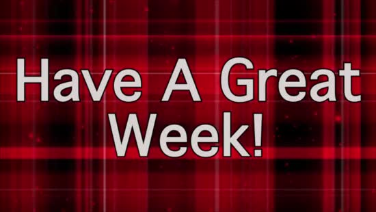 Have A Great Week Red Plaid His Hands Worship Media