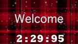 Red Plaid Countdown