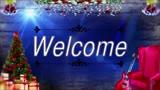 Welcome Christmas Living Room