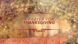 A Prayer for Thanksgiving
