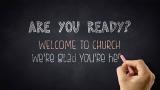 Church Introduction Chalkboard Writing