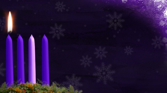 advent candle still image week 1 hd and sd vertical. Black Bedroom Furniture Sets. Home Design Ideas