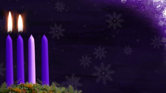 advent candle still image week 2 hd and sd vertical. Black Bedroom Furniture Sets. Home Design Ideas