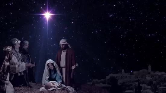 Christmas Nativity Background 4 Vertical Hold Media