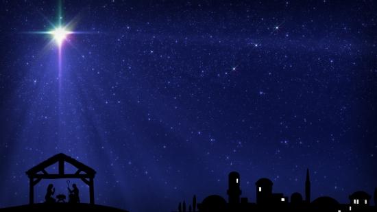 Christmas Star Over Bethlehem And Manger Still Image Hd