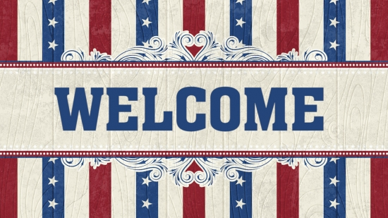 patriotic welcome background 2 vertical hold media