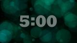 Green Bokeh Spheres Countdown