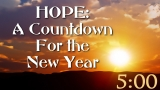 HOPE:  A Countdown for the New Year
